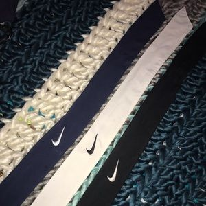 Set of three Nike headbands